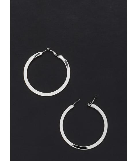 Bijuterii Femei CheapChic Flat Out Chic Shiny Hoop Earrings Silver
