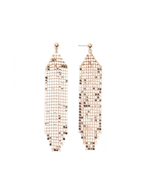 Bijuterii Femei CheapChic Shimmer Away Chainmail Panel Earrings Gold