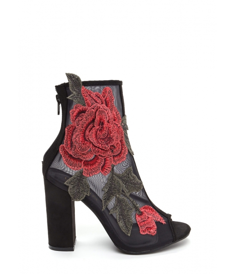 Incaltaminte Femei CheapChic Floral Dimension Chunky Mesh Booties Black