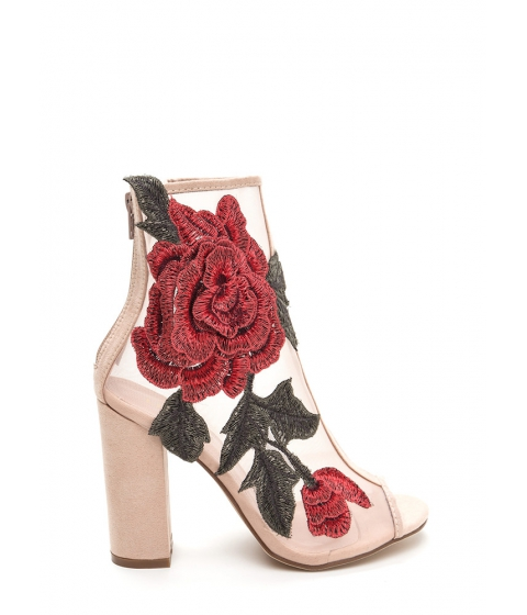 Incaltaminte Femei CheapChic Floral Dimension Chunky Mesh Booties Nude