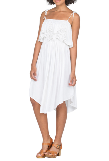 Imbracaminte Femei Volcom Boundless Lace Popover Dress WHITE
