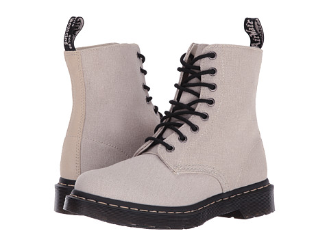 Incaltaminte Femei Dr Martens Page Mix BonePorcelain Washed CanvasHi Suede WP