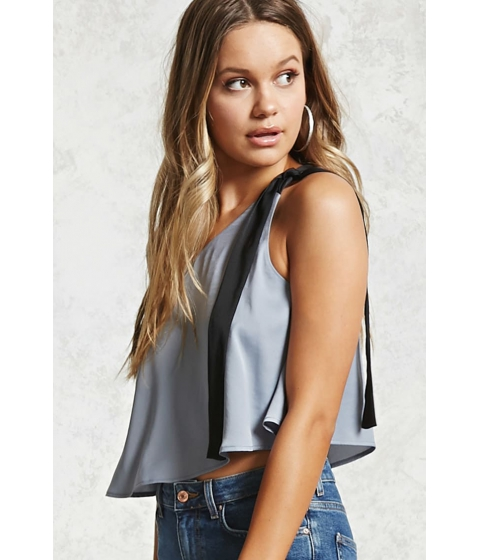 Imbracaminte Femei Forever21 Contemporary One-Shoulder Top Greyblack