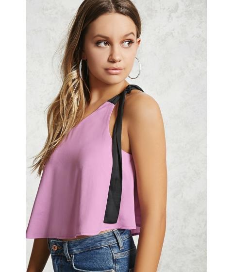 Imbracaminte Femei Forever21 Contemporary One-Shoulder Top Lavenderblack