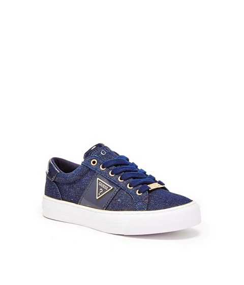 Incaltaminte Femei GUESS Gabey Low-Top Sneakers dark blue fabric