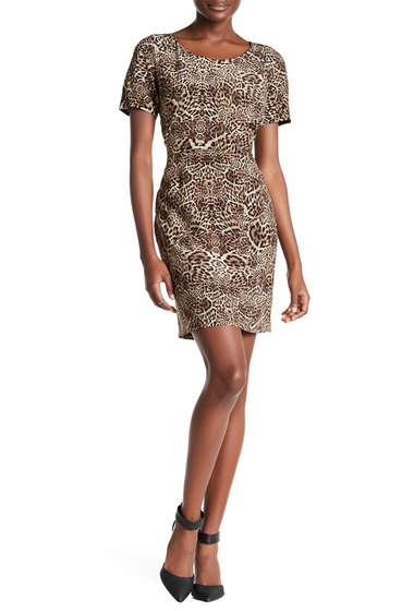 Imbracaminte Femei The Kooples Short Sleeve Silk Leopard Print Dress LEOPARD