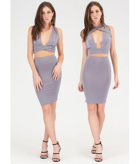 Imbracaminte Femei CheapChic Endless Possibilities Two-piece Dress Grey