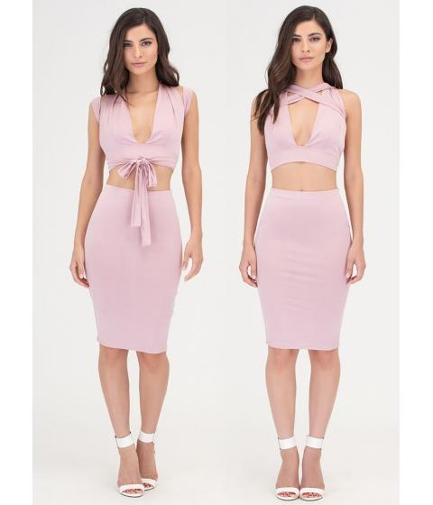 Imbracaminte Femei CheapChic Endless Possibilities Two-piece Dress Mauve