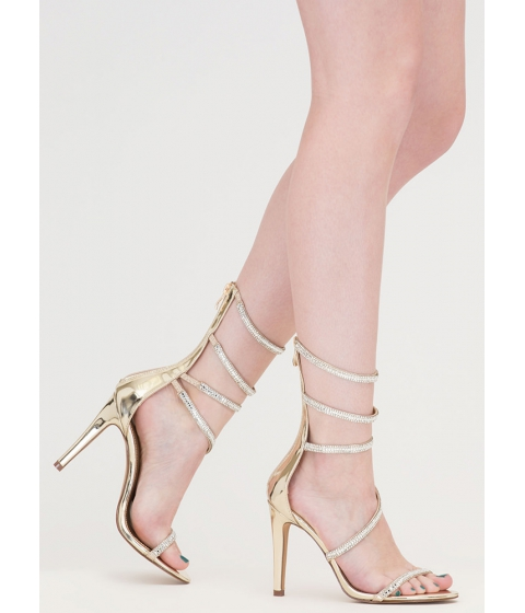 Incaltaminte Femei CheapChic Strappy Life Jeweled Metallic Heels Gold