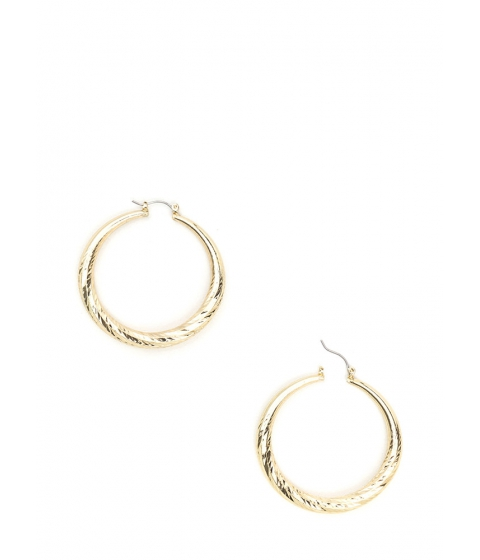 Accesorii Femei CheapChic Do The Twist Textured Hoop Earrings Gold
