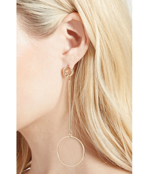 Bijuterii Femei Forever21 Drop Geo Earrings Gold
