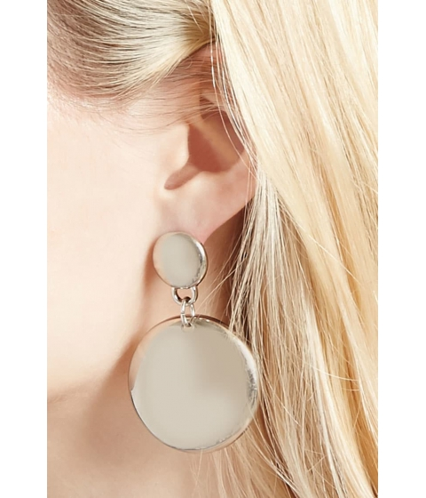 Bijuterii Femei Forever21 Disk Drop Earrings Silver