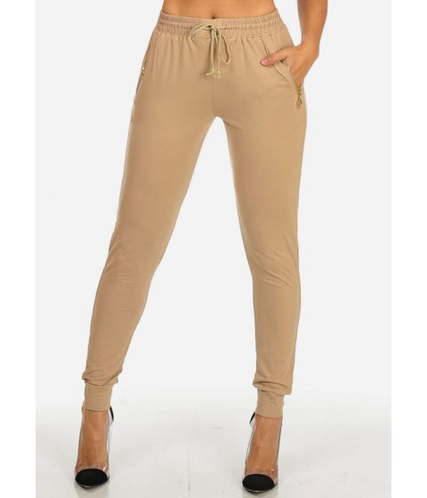 Imbracaminte Femei CheapChic Pull-On Stretchy Khaki Jogger Pants (ONE SIZE) Multicolor