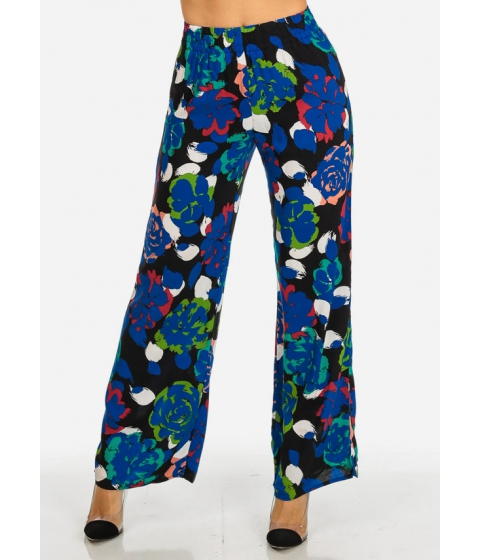 Imbracaminte Femei CheapChic High Waist Black Printed Palazzo Pants Multicolor