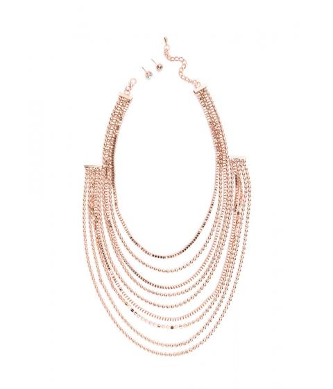 Bijuterii Femei CheapChic Team Layer Draped Chain Necklace Set Rosegold