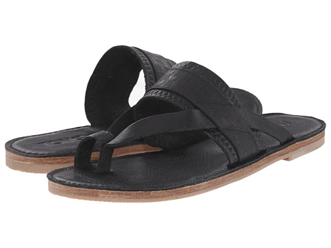 Incaltaminte Femei TOMS Isabella Sandal Black Full Grain Leather Embossed