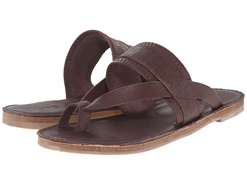 Incaltaminte Femei TOMS Isabella Sandal Mahogany Full Grain Leather Embossed