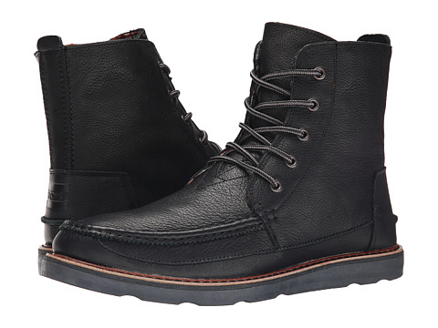 Incaltaminte Barbati TOMS Searcher Boot Black Full Grain Leather