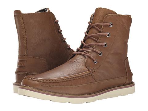 Incaltaminte Barbati TOMS Searcher Boot Brown Full Grain Leather