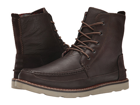 Incaltaminte Barbati TOMS Searcher Boot Chocolate Brown Full Grain Leather