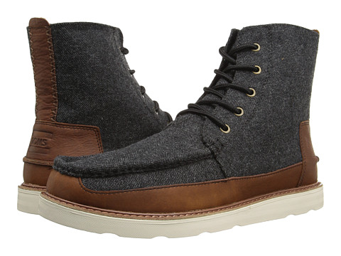 Incaltaminte Barbati TOMS Searcher Boot Grey HerringboneBrown Leather