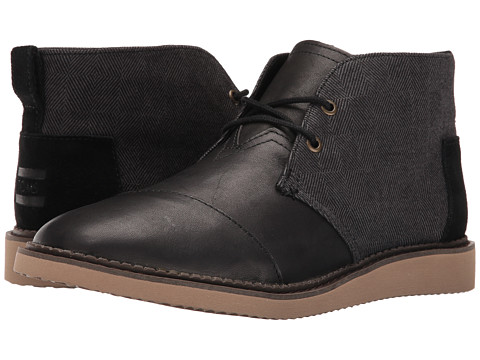 Incaltaminte Barbati TOMS Mateo Chukka Boot Black HerringboneLeather