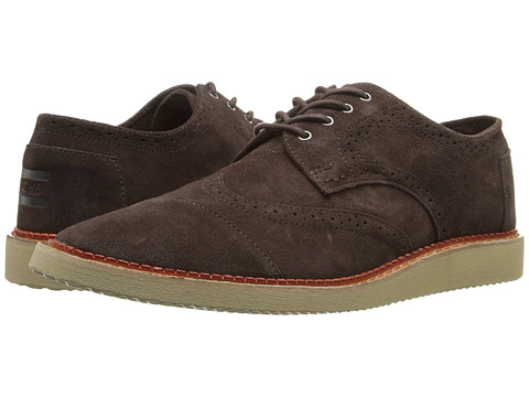 Incaltaminte Barbati TOMS Brogue Chocolate Brown Suede