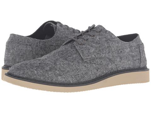 Incaltaminte Barbati TOMS Brogue Grey Slub Textile