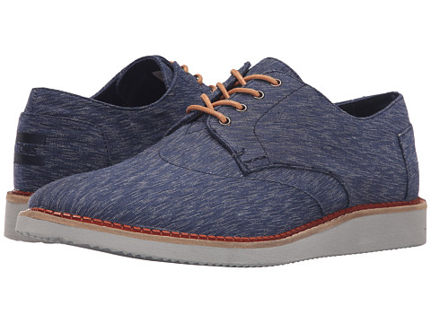 Incaltaminte Barbati TOMS Brogue Navy Textured Textile