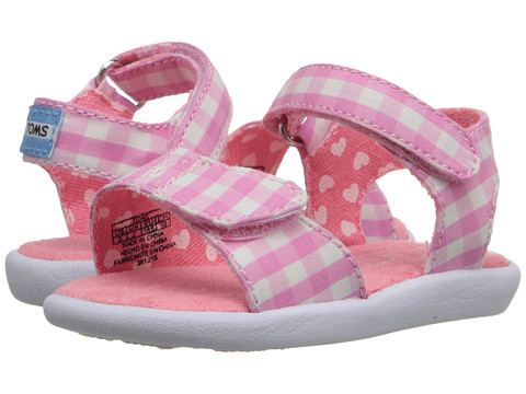 Incaltaminte Fete TOMS Strappy Sandal (InfantToddlerLittle Kid) Pink Gingham