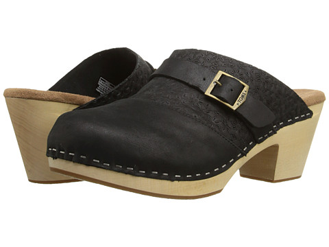 Incaltaminte Femei TOMS Elisa Clog Sandal Black Leather