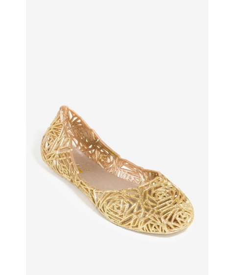 Incaltaminte Femei CheapChic Level Up Jelly Flat Met Gold