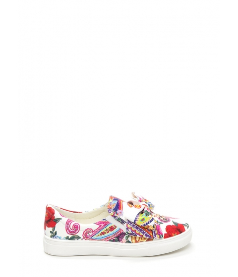 Incaltaminte Femei CheapChic Be My Bow Floral Slip-on Sneakers Floral