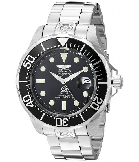Ceasuri Barbati Invicta Watches Invicta Mens 3044 Stainless Steel Grand Diver Automatic Watch BlackSilver