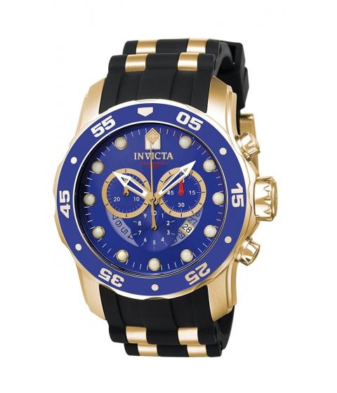 Ceasuri Barbati Invicta Watches Invicta Mens 6983 Pro Diver Collection Chronograph Blue Dial Black Polyurethane Watch BlueBlack