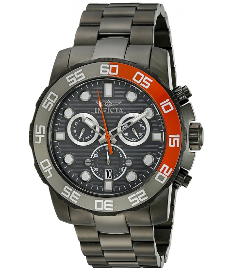 Ceasuri Barbati Invicta Watches Invicta Mens 21556 Pro Diver Stainless Steel Watch with Link Bracelet GreyBlack