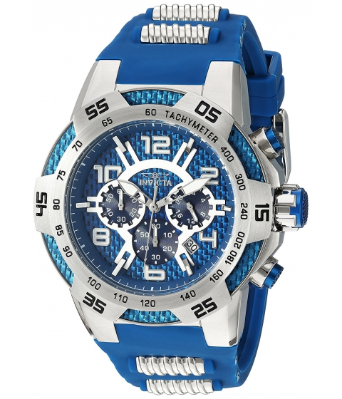 Ceasuri Barbati Invicta Watches Invicta Mens Speedway Quartz Stainless Steel and Silicone Casual Watch ColorBlue (Model 24231) BlueBlue