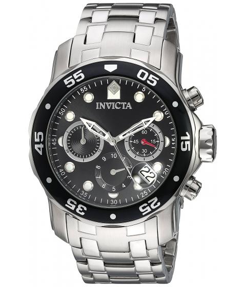 Ceasuri Barbati Invicta Watches Invicta Mens Pro Diver Quartz Stainless Steel Watch ColorSilver-Toned (Model 21920) BlackSilver