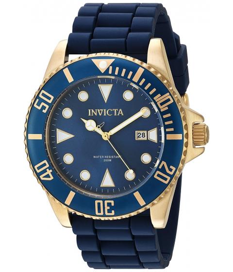 Ceasuri Barbati Invicta Watches Invicta Mens Pro Diver Quartz Stainless Steel and Silicone Casual Watch ColorBlue (Model 90304) BlueBlue
