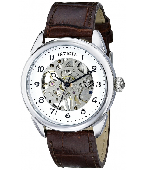 Ceasuri Barbati Invicta Watches Invicta Mens 17187 Specialty Analog Display Mechanical Hand Wind Brown Watch SilverBrown