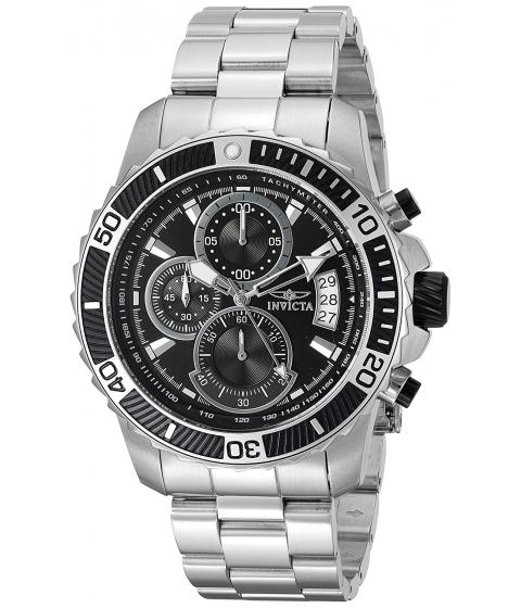 Ceasuri Barbati Invicta Watches Invicta Mens Pro Diver Quartz Stainless Steel Casual Watch ColorSilver-Toned (Model 22412) BlackSilver