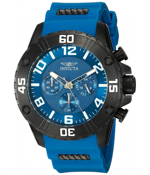 Ceasuri Barbati Invicta Watches Invicta Mens Pro Diver Quartz Stainless Steel and Silicone Casual Watch ColorBlue (Model 22701) BlueBlue