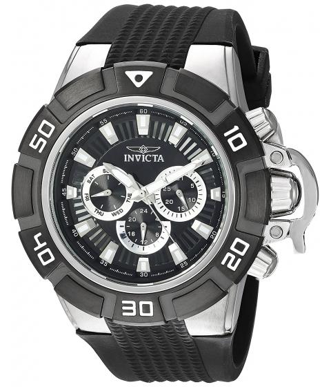 Ceasuri Barbati Invicta Watches Invicta Mens I-Force Quartz Stainless Steel and Silicone Casual Watch ColorBlack (Model 24385) BlackBlack