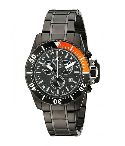 Ceasuri Barbati Invicta Watches Invicta Mens 11290 Pro Diver Chronograph Black Carbon Fiber Dial Black Stainless Steel Watch BlackBlack