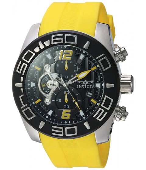 Ceasuri Barbati Invicta Watches Invicta Mens Pro Diver Quartz Stainless Steel and Silicone Casual Watch ColorYellow (Model 22808) BlackYellow