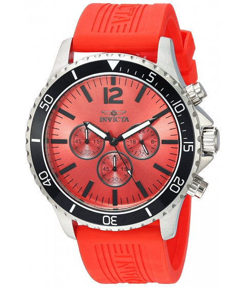 Ceasuri Barbati Invicta Watches Invicta Mens Pro Diver Quartz Stainless Steel and Polyurethane Casual Watch ColorRed (Model 24391) RedRed