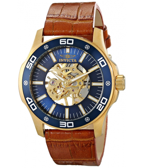 Ceasuri Barbati Invicta Watches Invicta Mens 17260SYB Specialty Analog Display Mechanical Hand Wind Brown Watch BlueBrown