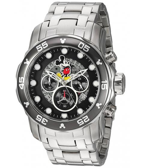 Ceasuri Barbati Invicta Watches Invicta Mens Disney Limited Edition Quartz Stainless Steel Casual Watch ColorSilver-Toned (Model 23768) BlackSilver