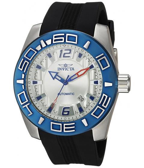 Ceasuri Barbati Invicta Watches Invicta Mens Aviator Automatic Stainless Steel and Silicone Casual Watch ColorBlack (Model 23530) SilverBlack