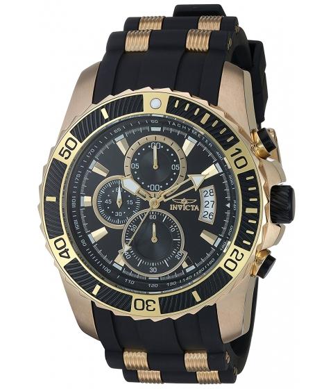 Ceasuri Barbati Invicta Watches Invicta Mens Pro Diver Quartz Stainless Steel and Silicone Casual Watch ColorBlack (Model 22430) BlackBlack